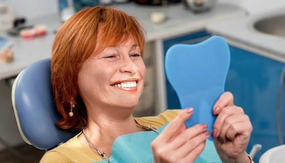 Happy dental patient at Montreal west Dentistry