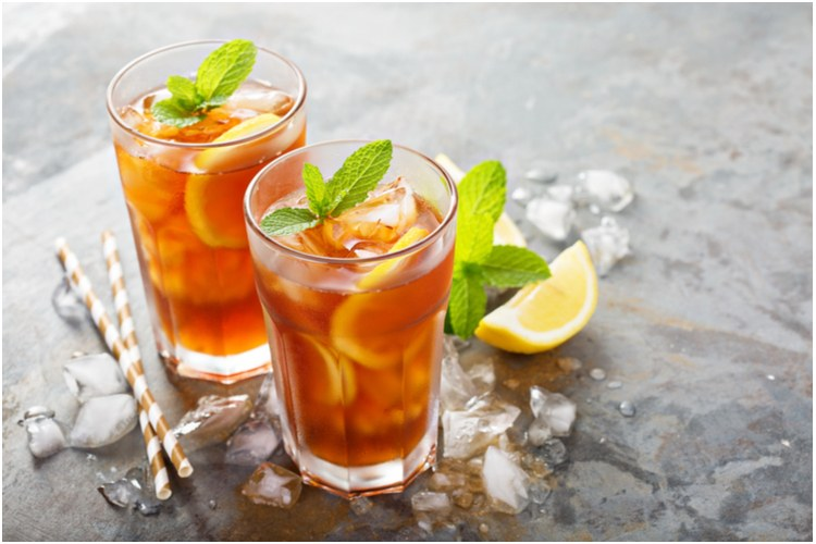 Iced tea - sweet and refreshing